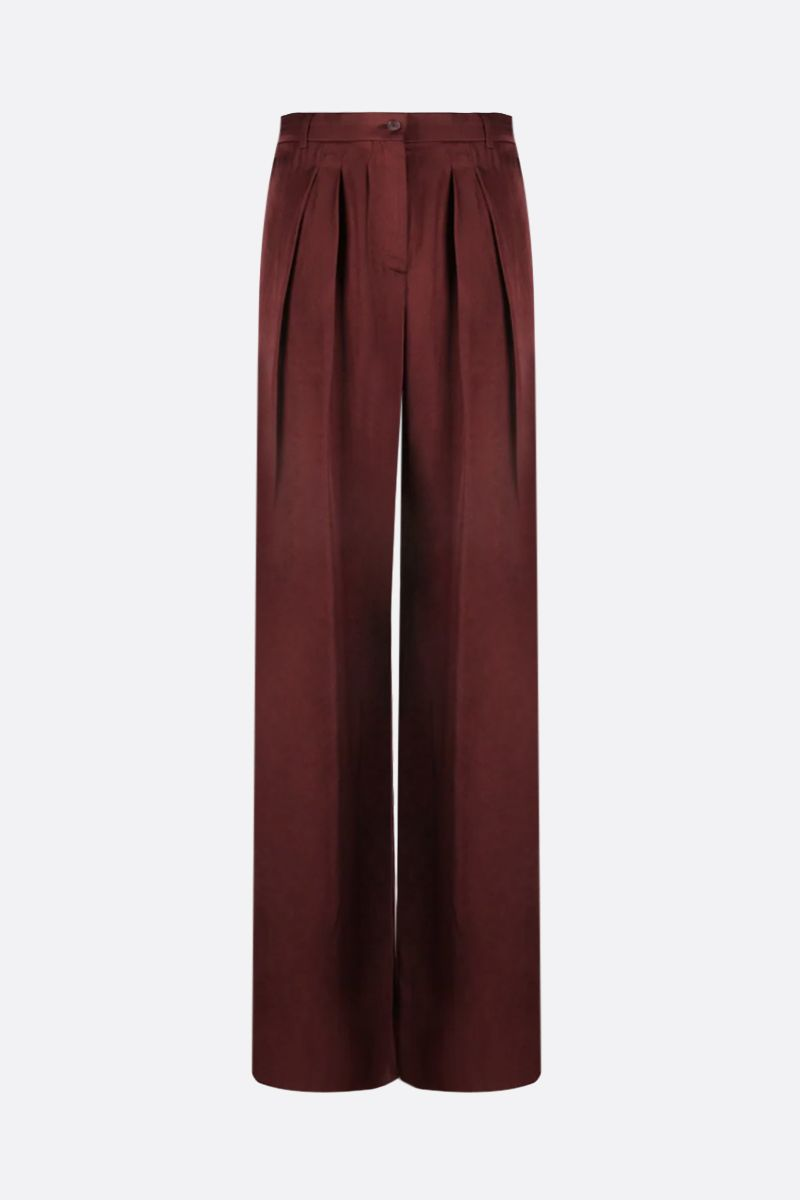 ROCHAS: satin wide-leg pants Color Red_1