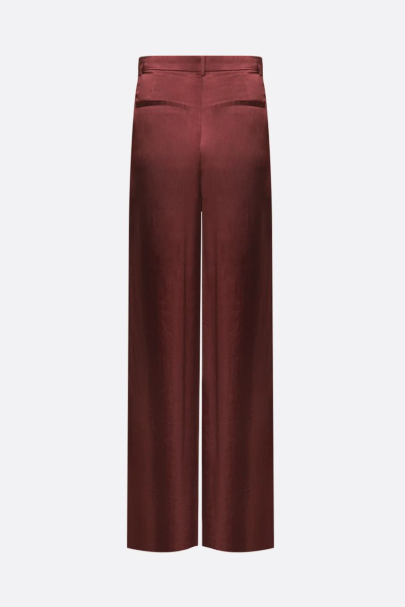 ROCHAS: satin wide-leg pants Color Red_2