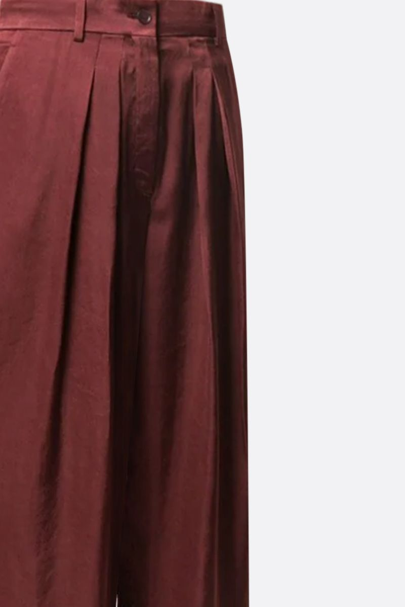 ROCHAS: satin wide-leg pants Color Red_4