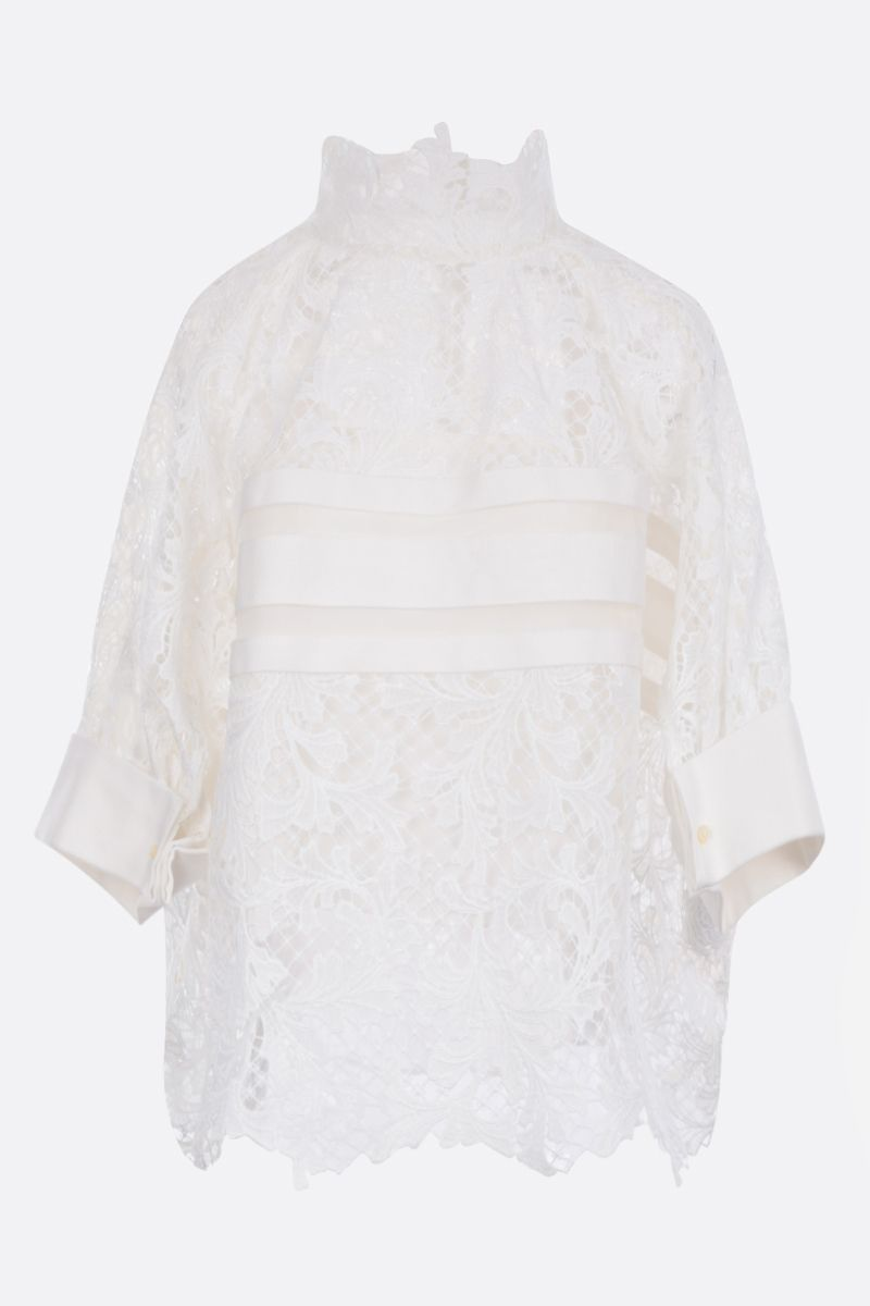 SACAI: lace oversized blouse Color White_1