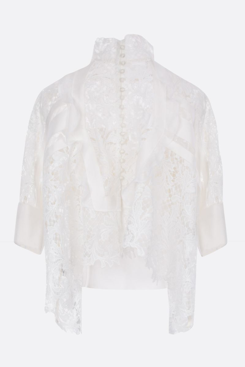 SACAI: lace oversized blouse Color White_2