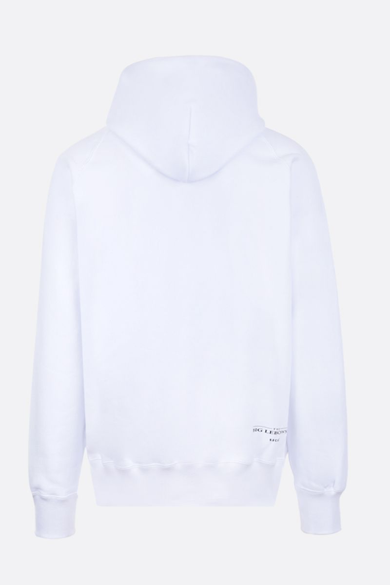 SACAI: The Big Lebowski print cotton hoodie Color White_2