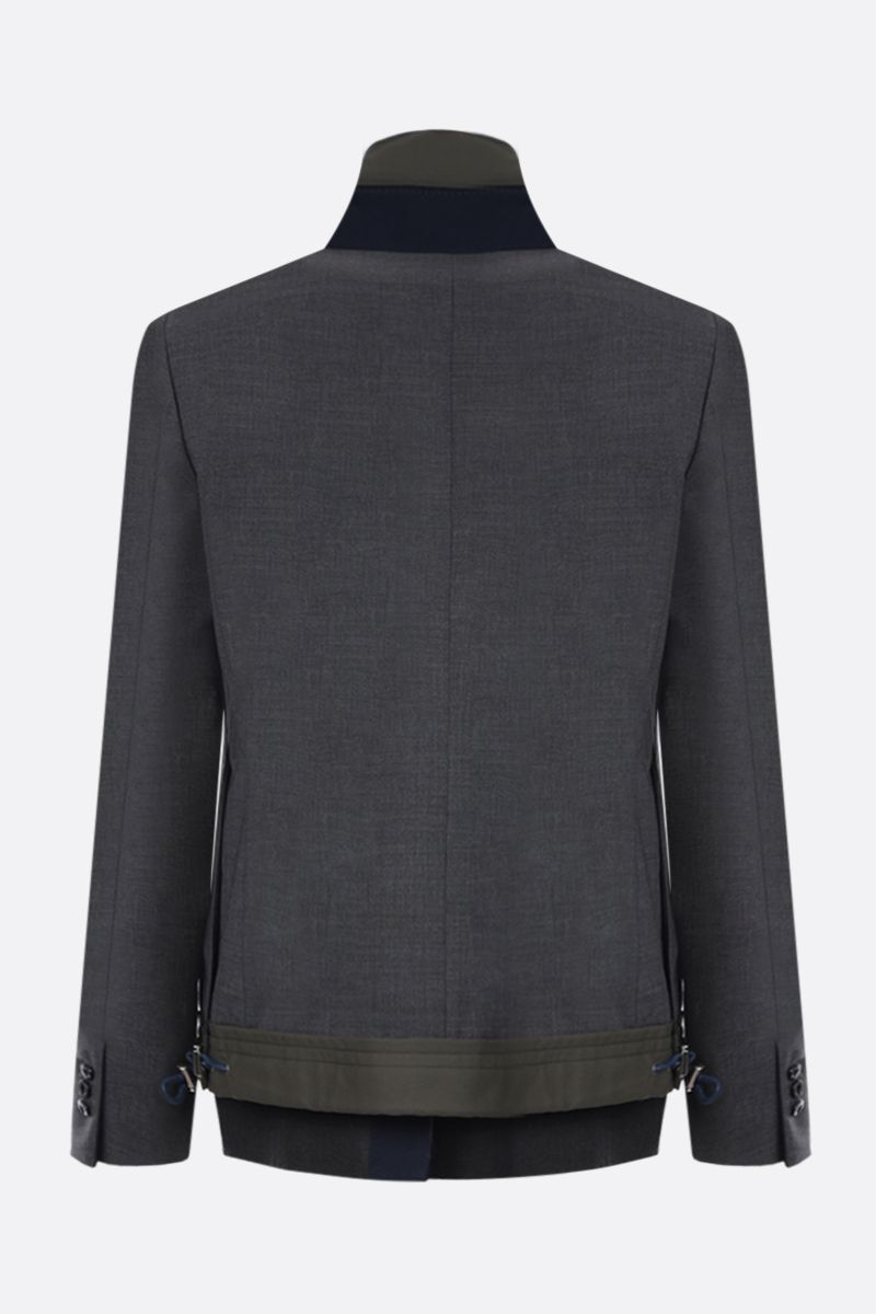 SACAI: wool blend destructured jacket with vest_2