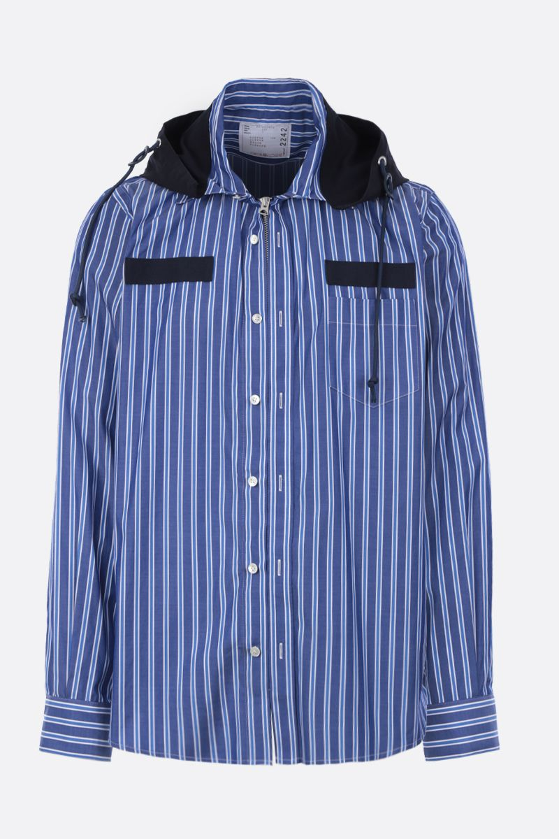 SACAI: striped poplin full-zip jacket Color Multicolor_1