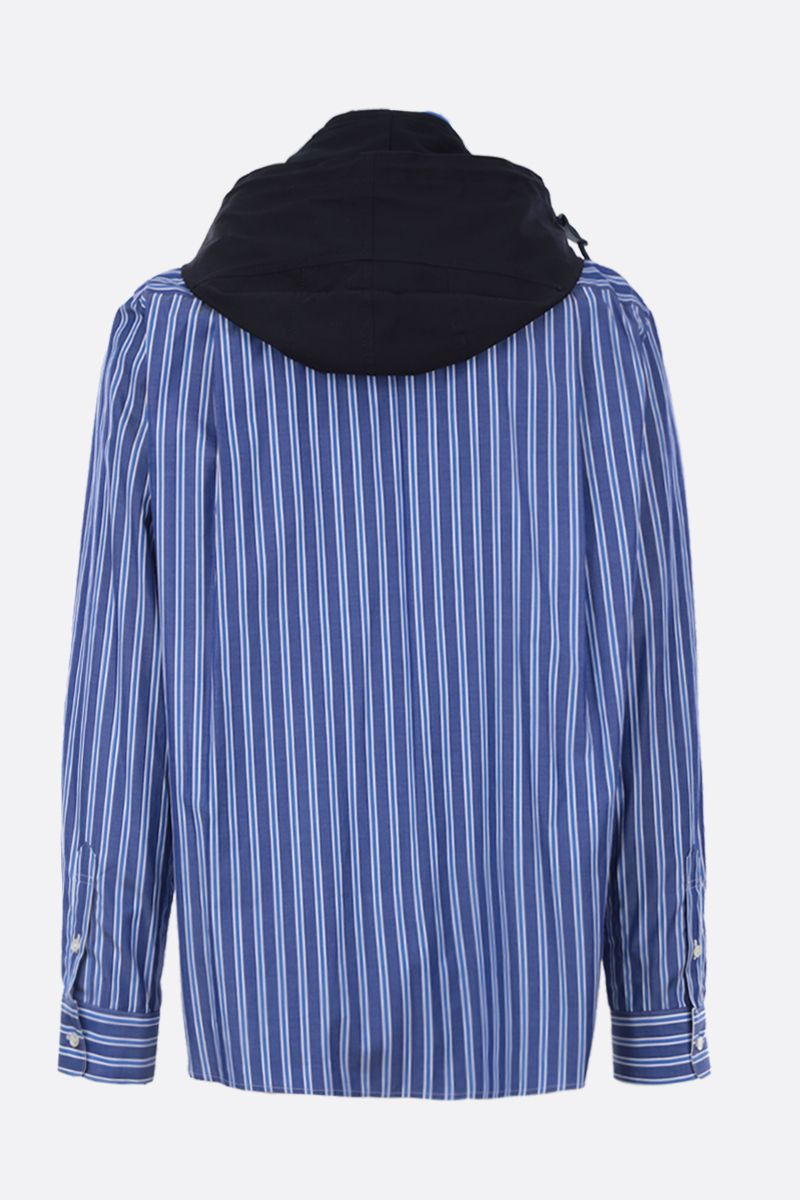 SACAI: striped poplin full-zip jacket Color Multicolor_2