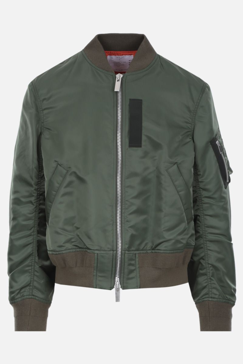SACAI: nylon deconstructed bomber jacket Color Brown_1