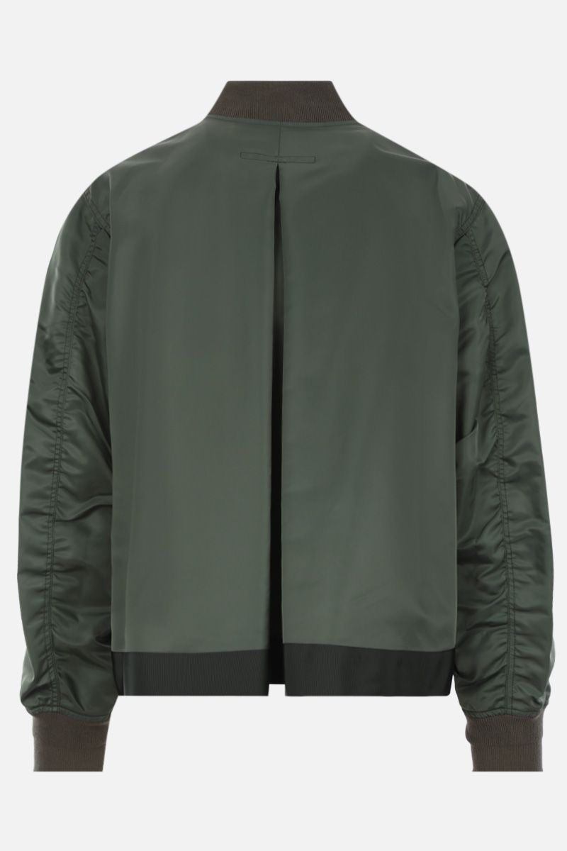 SACAI: nylon deconstructed bomber jacket Color Brown_2