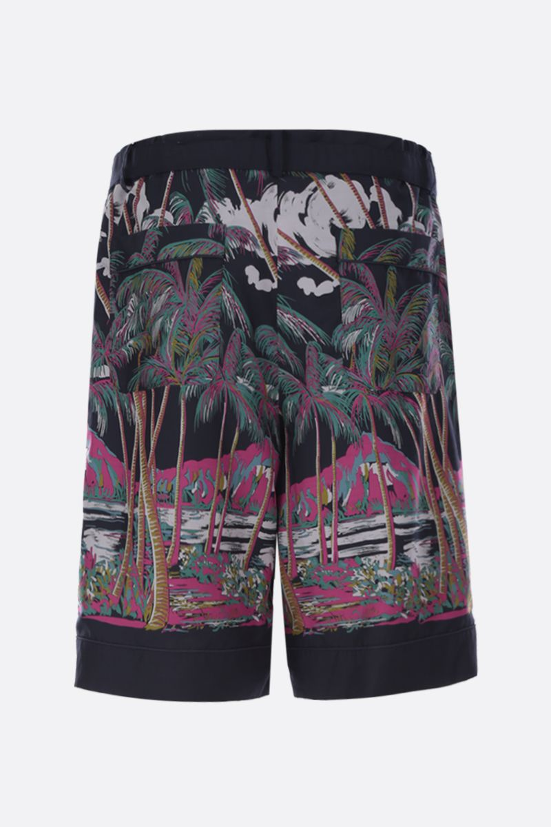 SACAI: Sun Surf print twill shorts Color Multicolor_2