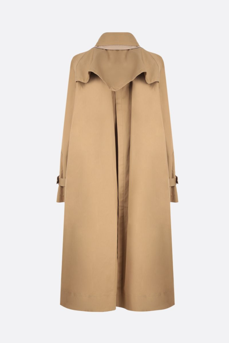SACAI: destructured trench coat in wool blend with twill panels Color Neutral_3