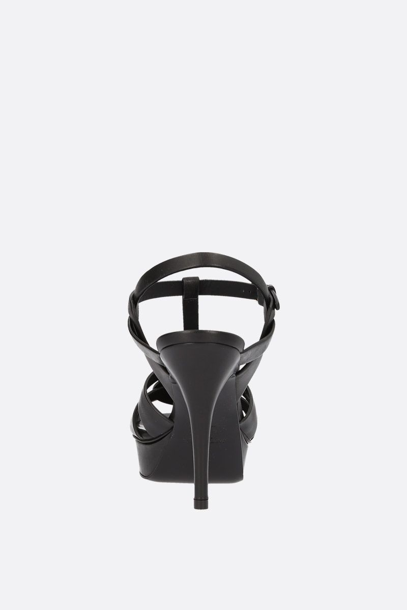 SAINT LAURENT: Tribute sandals in smooth leather Color Black_3