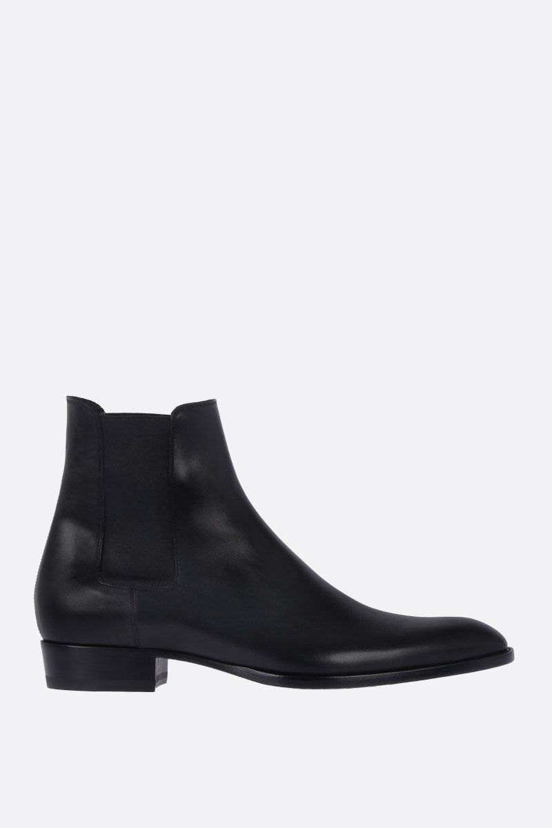 SAINT LAURENT: Wyatt chelsea boots in smooth leather Color Black_1