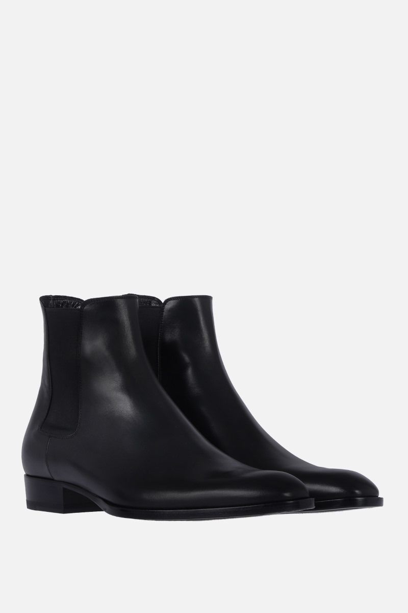 SAINT LAURENT: Wyatt chelsea boots in smooth leather Color Black_2