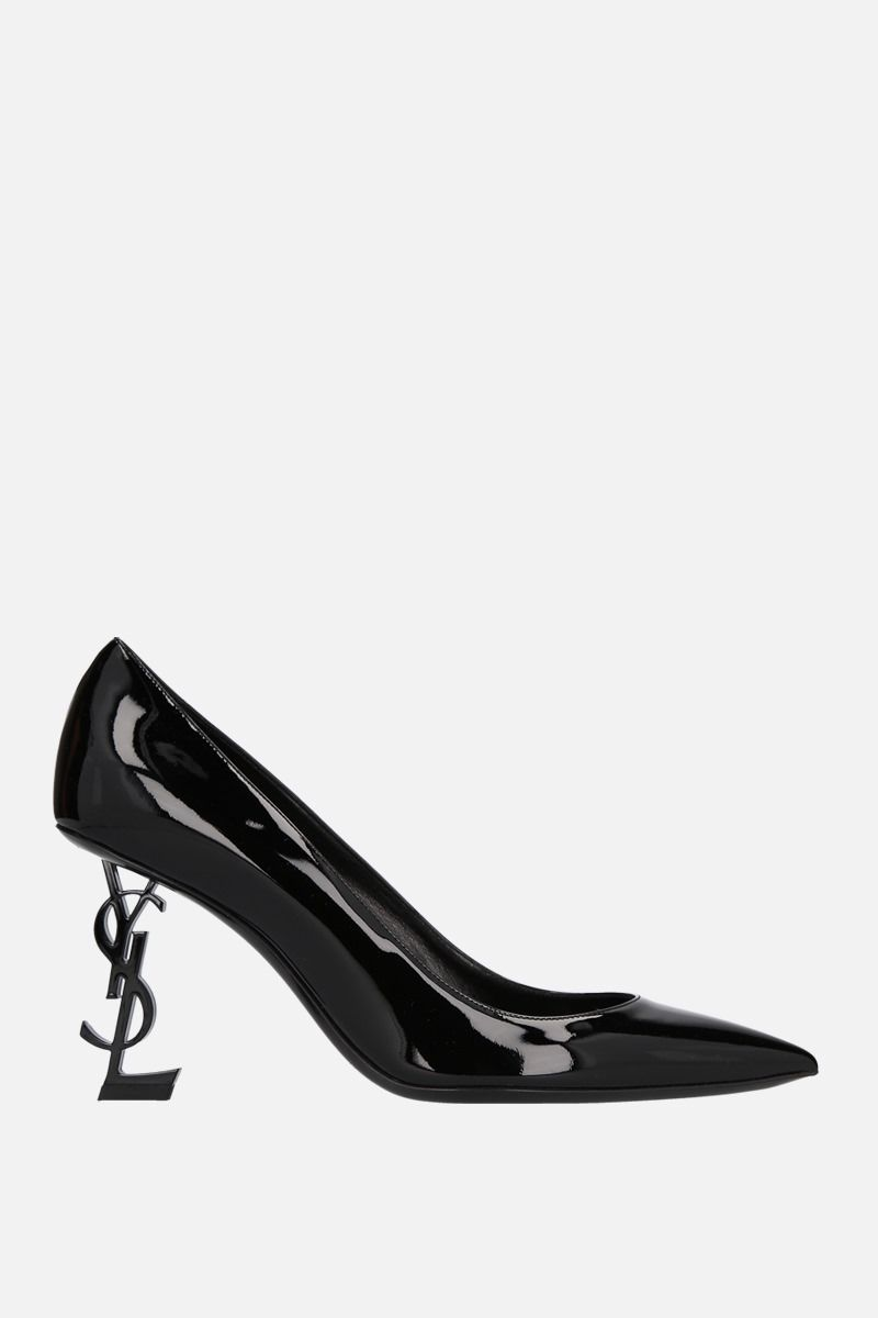 SAINT LAURENT: Opyum patent leather pumps Color Black_1