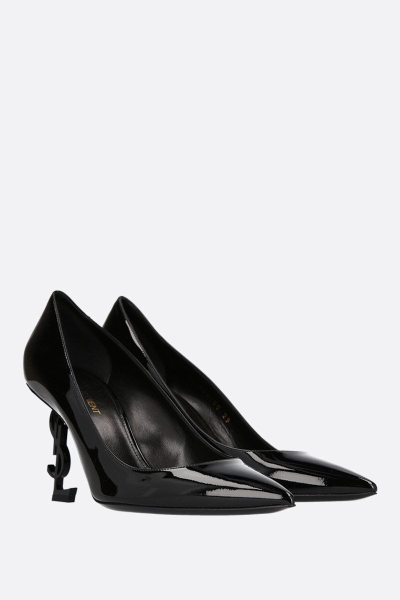 SAINT LAURENT: Opyum patent leather pumps Color Black_2