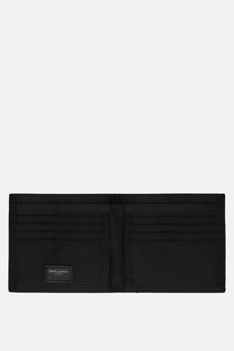 SAINT LAURENT: Nuxx billfold wallet in nylon Color Black_2