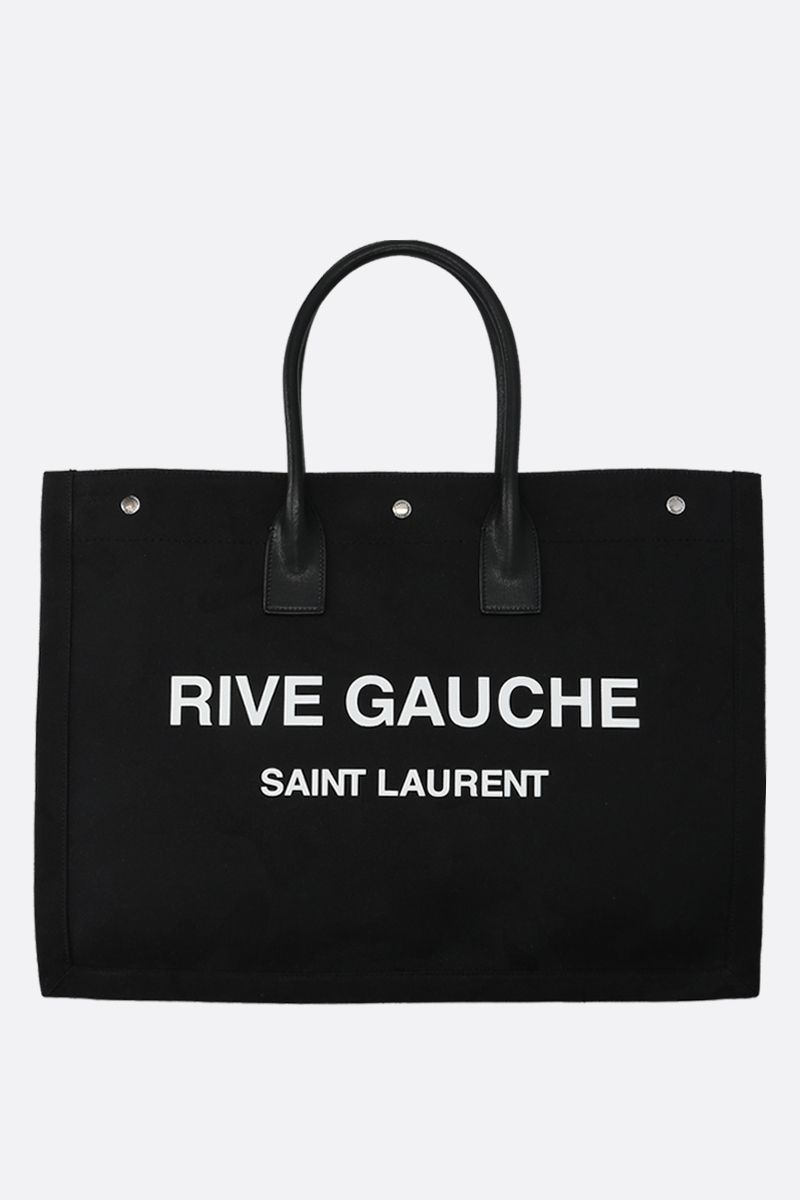 SAINT LAURENT: Noe tote bag in camouflage canvas Color Black_1