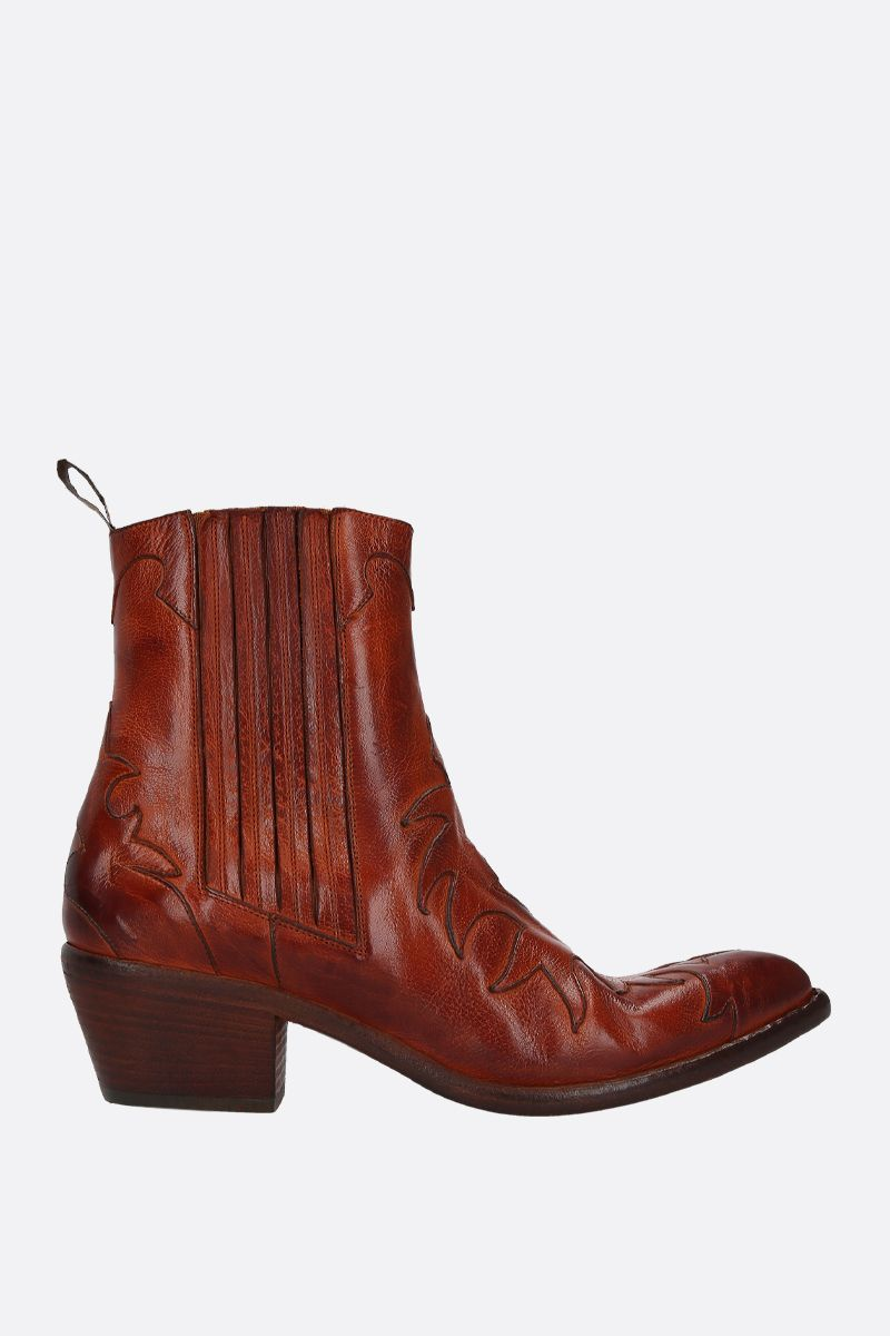 SARTORE: vintage leather western boots Color Grey_1
