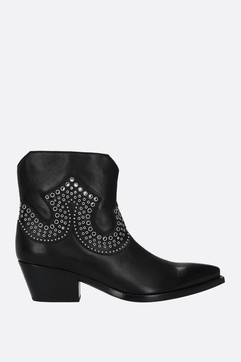 SARTORE: studded leather western boots Color Black_1