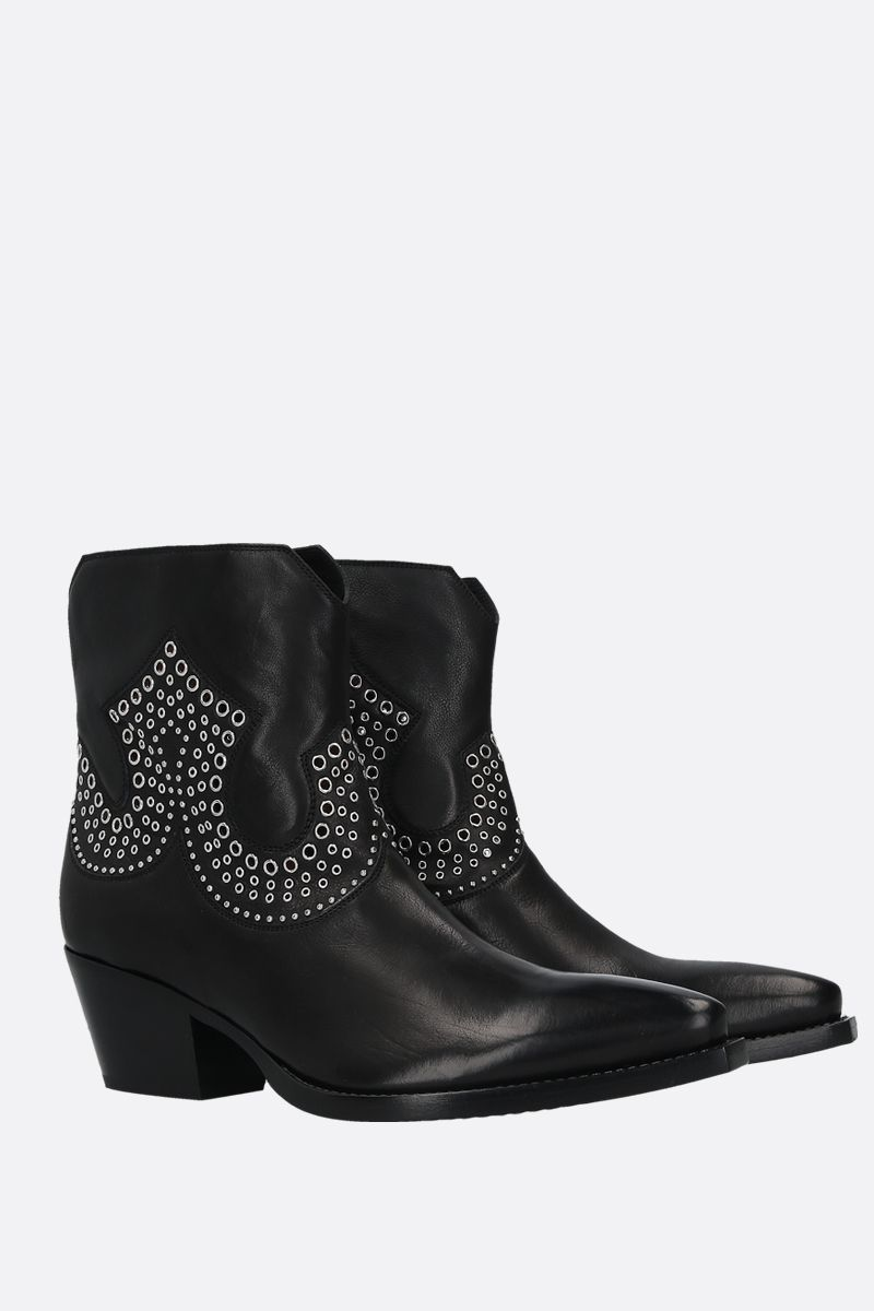 SARTORE: studded leather western boots Color Black_2
