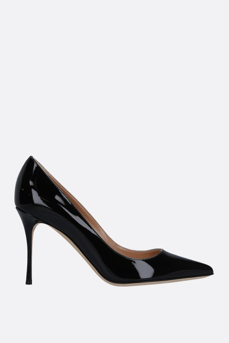 SERGIO ROSSI: Godiva pumps in patent leather Color Black_1