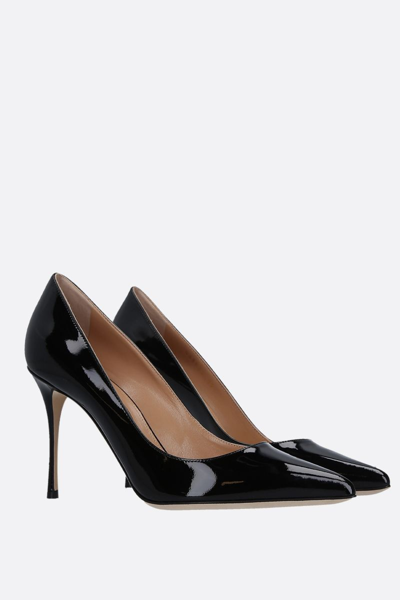 SERGIO ROSSI: Godiva pumps in patent leather Color Black_2