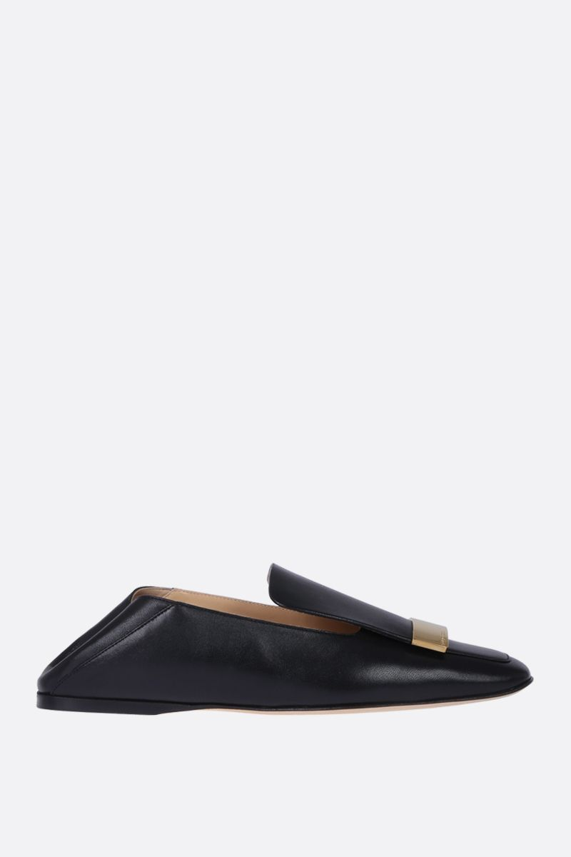 SERGIO ROSSI: sr1 slippers in soft nappa Color Black_2