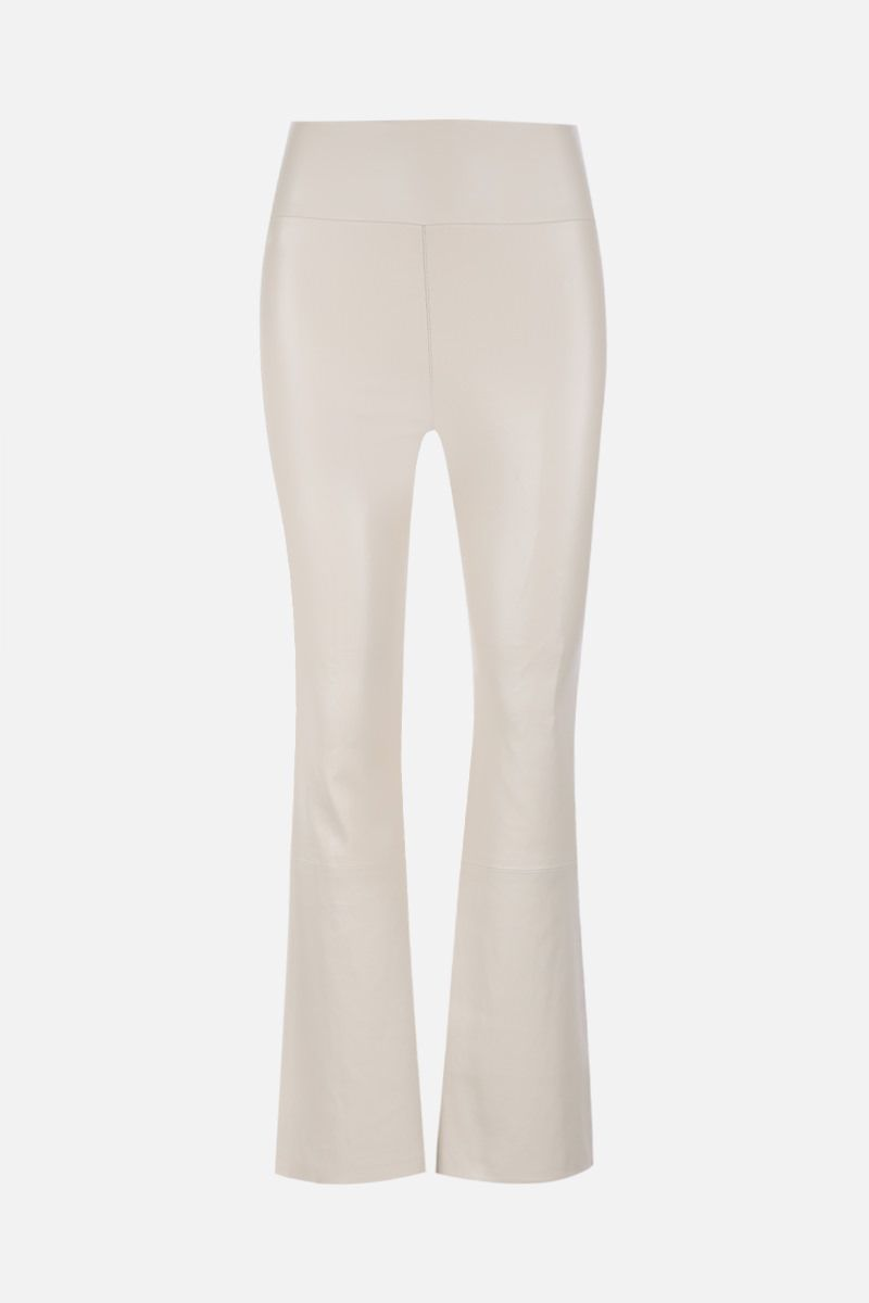 SPRWMN: crop flare leather legging Color White_1