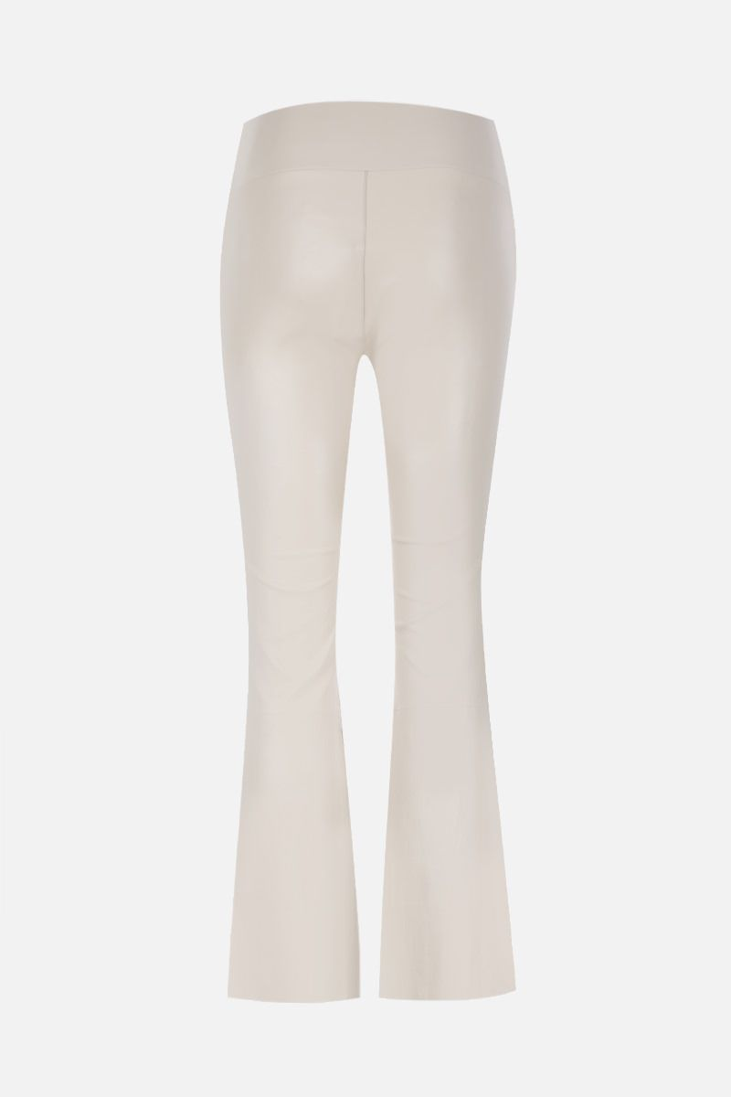 SPRWMN: crop flare leather legging Color White_2