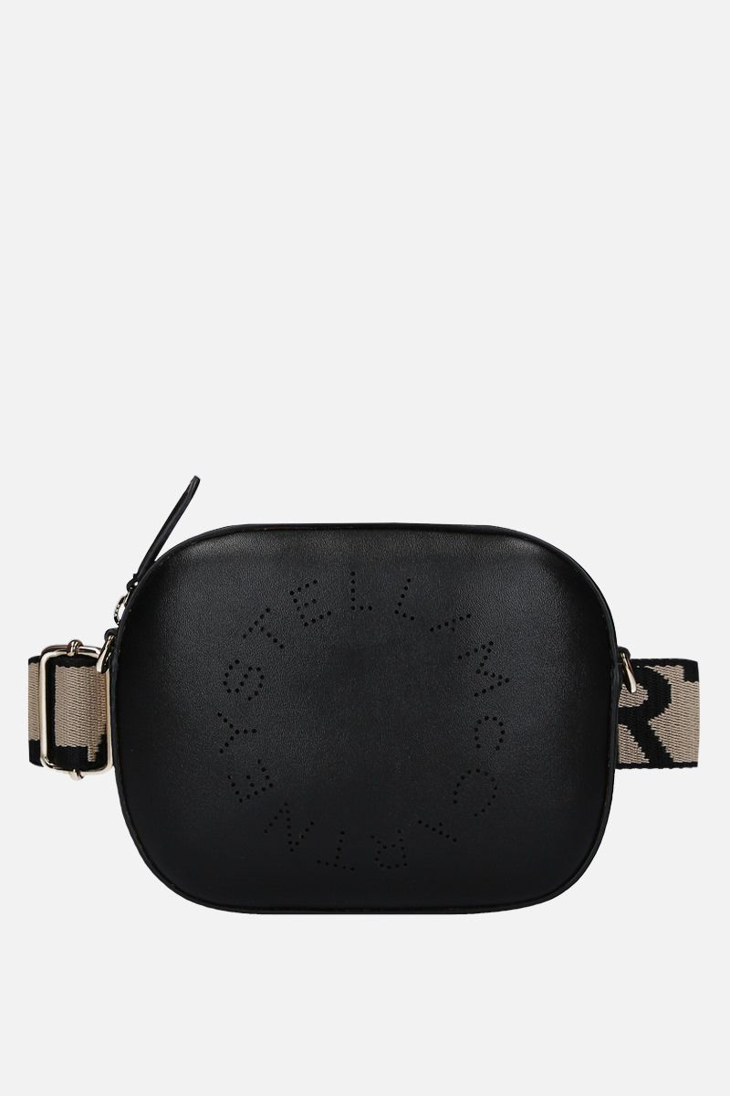 STELLA McCARTNEY: Stella Logo belt bag in Alter Nappa Color Black_1