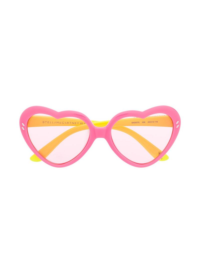 STELLA McCARTNEY KIDS: acetate heart-shaped sunglasses_1