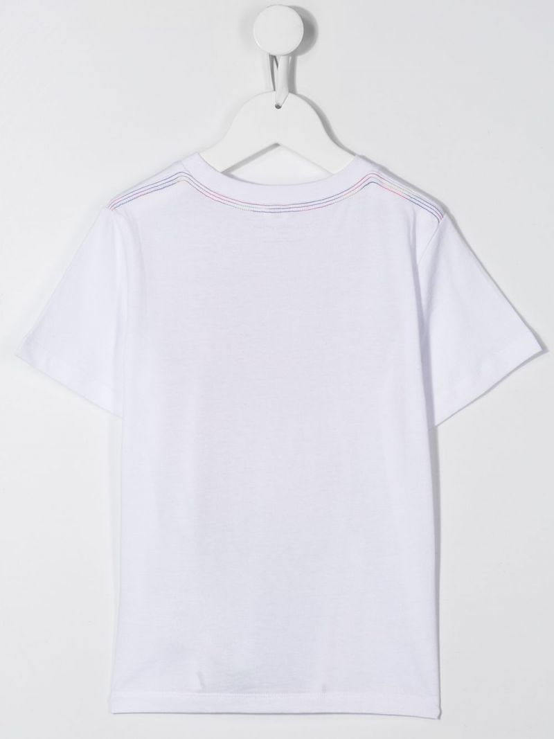 STELLA McCARTNEY KIDS: Rainbow Monster print cotton t-shirt Color White_2