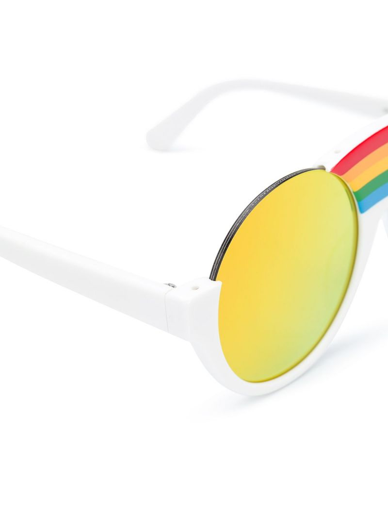 STELLA McCARTNEY KIDS: Rainbow-detailed acetate sunglasses Color White_2