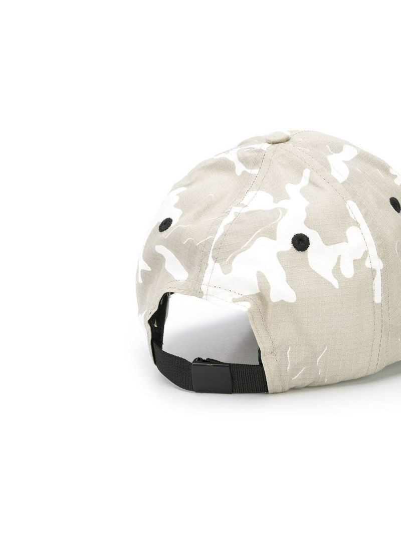 STONE ISLAND JUNIOR: camouflage print canvas baseball cap Color Neutral_2