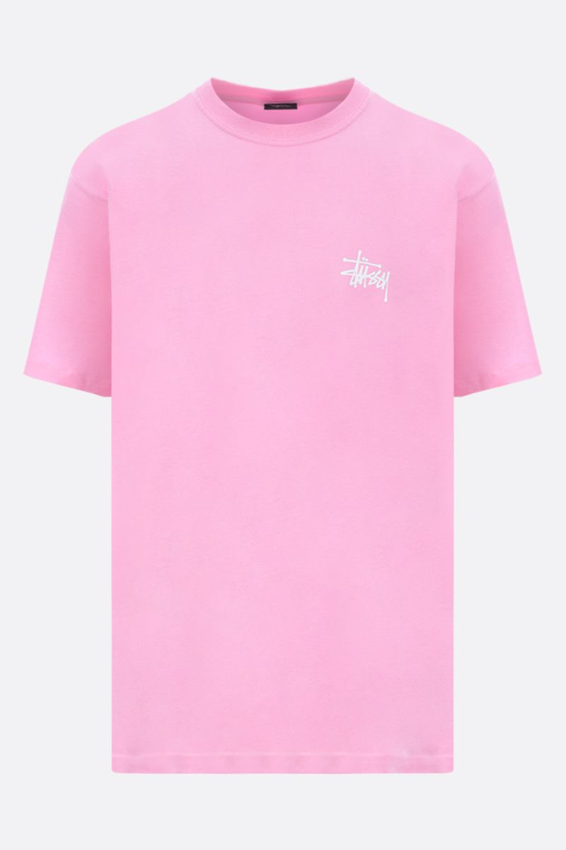 STUSSY: t-shirt oversize Basic Stussy in cotone Colore Rosa_1