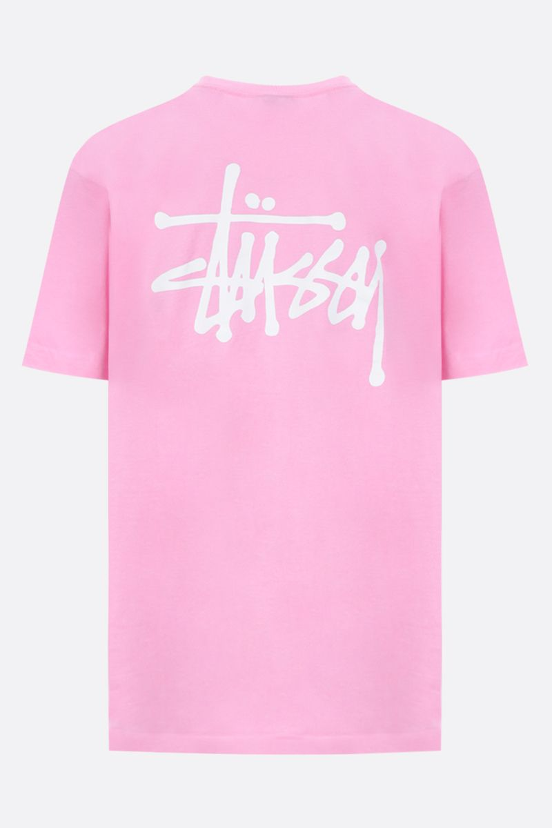 STUSSY: t-shirt oversize Basic Stussy in cotone Colore Rosa_2