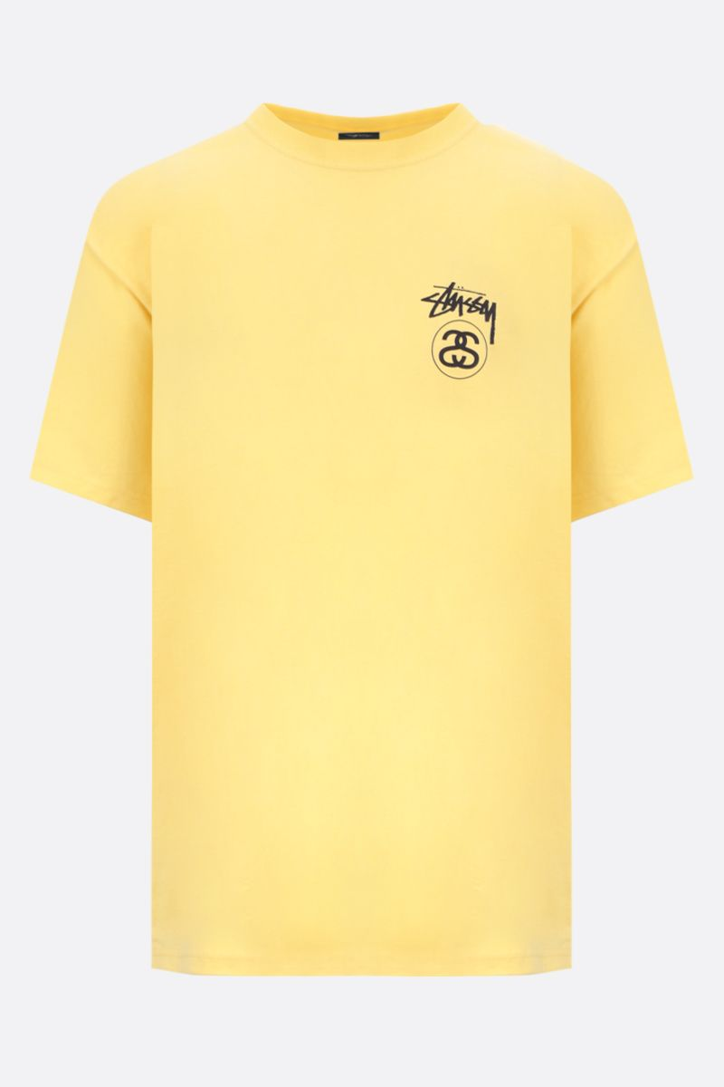 STUSSY: Stock Link cotton oversized t-shirt Color Yellow_1