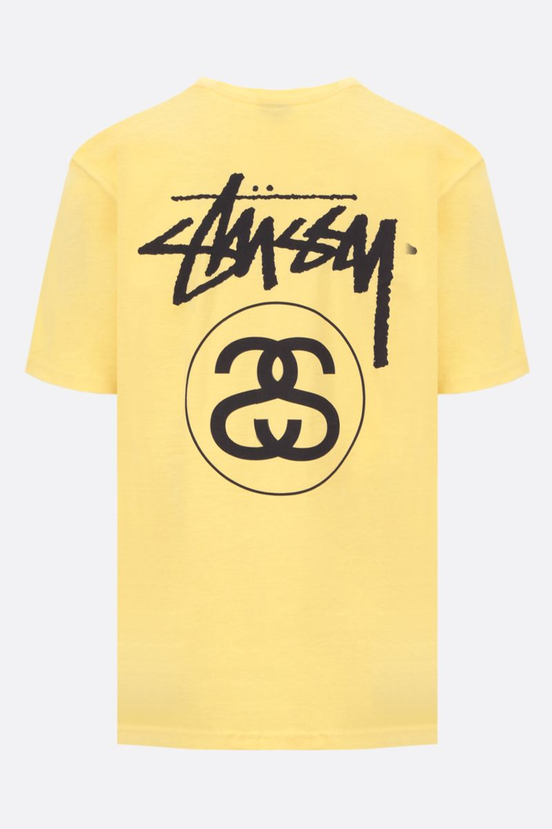 STUSSY: Stock Link cotton oversized t-shirt Color Yellow_2