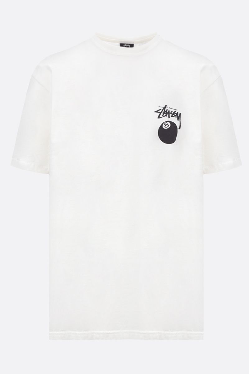 STUSSY: 8 Ball cotton oversized t-shirt Color Neutral_1