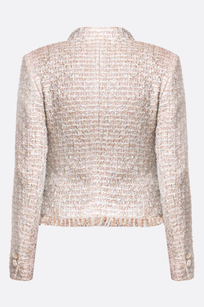 TAGLIATORE: Nikole tweed single-breasted jacket Color White_2