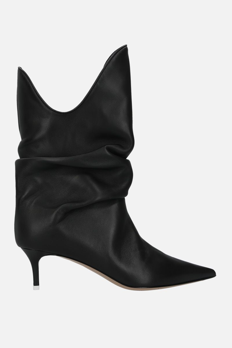 THE ATTICO: smooth leather slouchy-effect boots Color Black_1