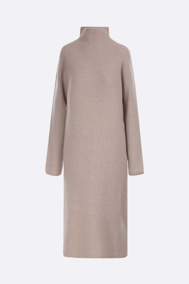 THE ROW: Moa midi dress in wool cashmere blend Color Neutral_1