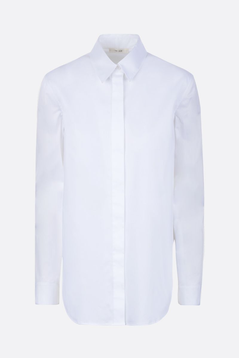 THE ROW: Amos stretch cotton shirt Color White