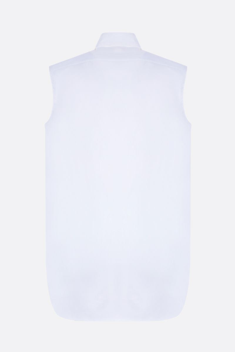 THE ROW: Fania sleeveless shirt in poplin Color White_2