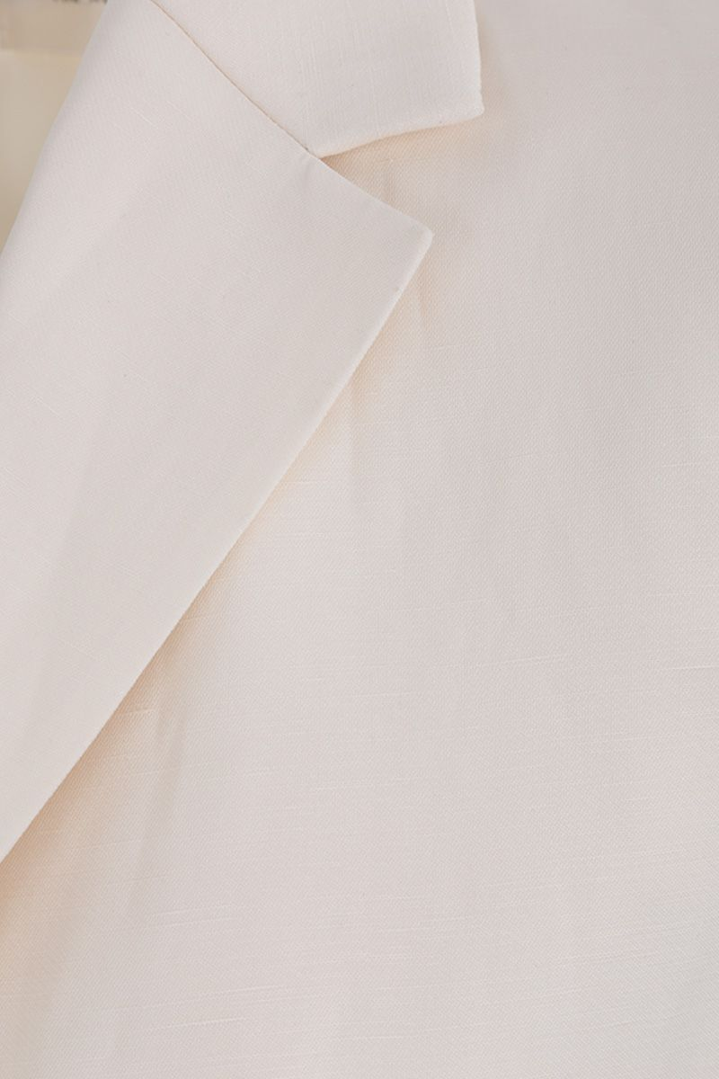 THE ROW: Kiro single-breasted jacket in silk linen blend Color White_4
