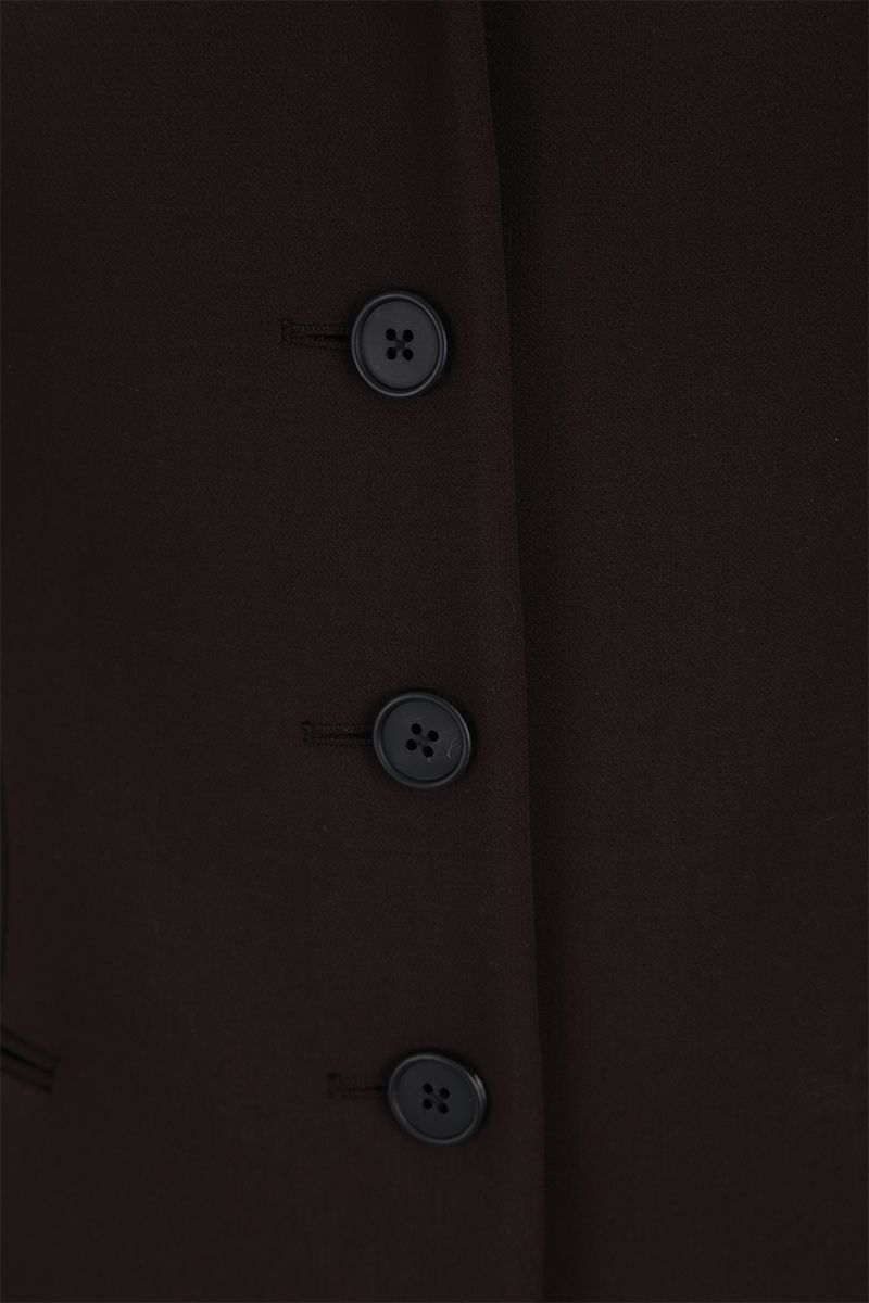 THE ROW: Risa stretch wool single-breasted jacket Color Brown_4