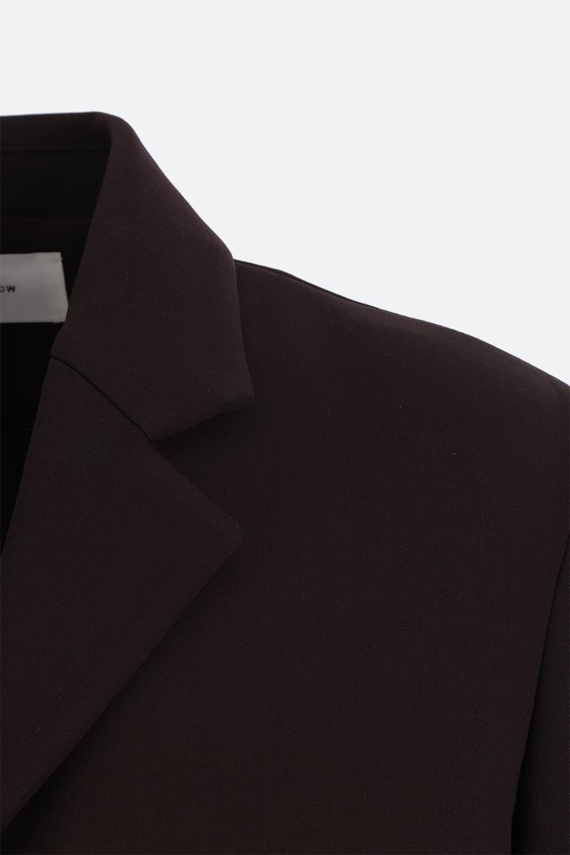 THE ROW: Risa stretch wool single-breasted jacket Color Brown_5