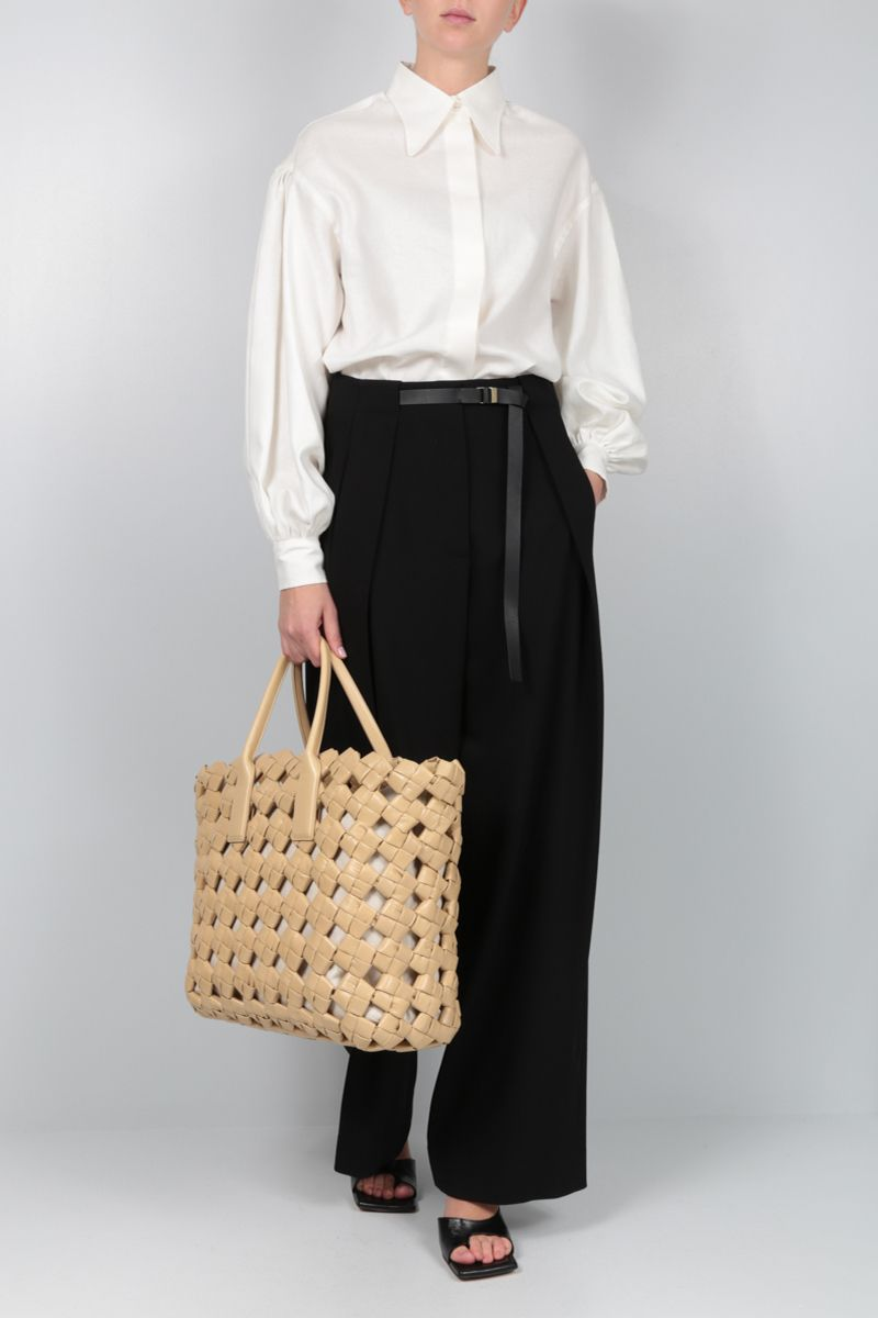 THE ROW: Brona wool wide-leg pants Color Black_2