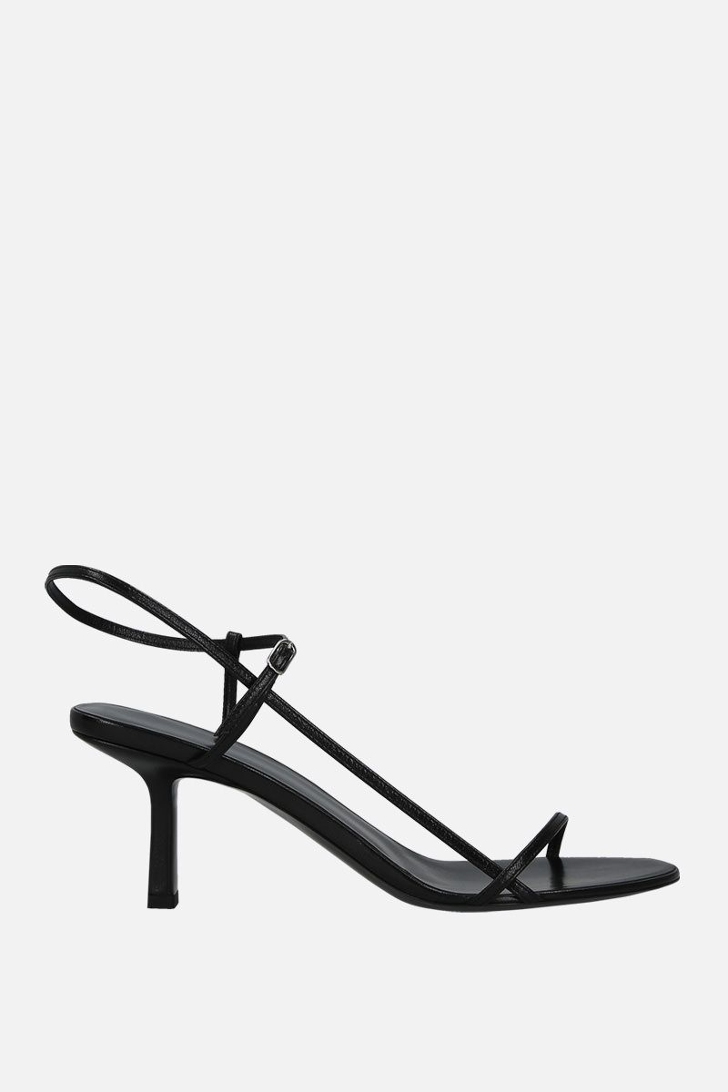THE ROW: Bare sandals in smooth leather Color Black_1