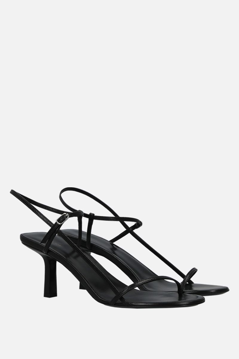THE ROW: Bare sandals in smooth leather Color Black_2