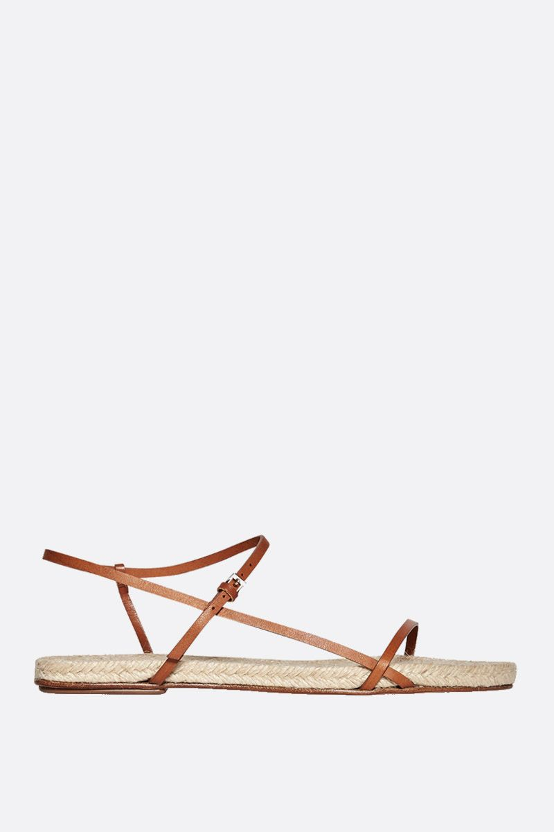 THE ROW: Bare smooth leather flat sandals